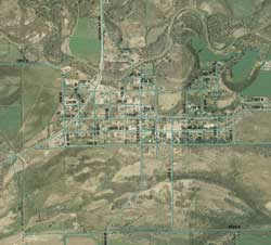 Aerial Map of Myton City