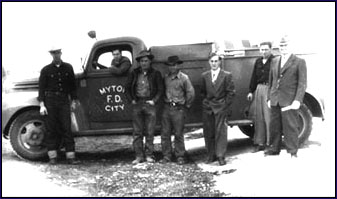 Myton City bought this 1943 Ford firetruck, in 1950, for $532.00