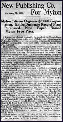 The Myton Free Press.