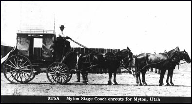 Early Stagecoach enroute to Myton